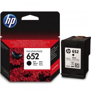 Cartus original compatibil HP 652 Negru, F6V25AE