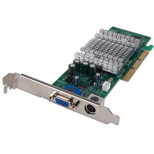 Placa video AGP, GEFORCE MX4000, 64MB DDR, 64 BIT
