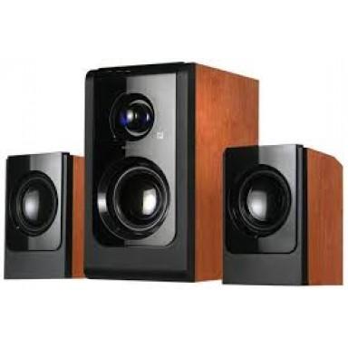 Boxe 2.1 din lemn cires, calitate superioara a sunetului