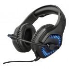 Casti gaming Trust GXT 460 Varzz On-ear cu microfon, negru