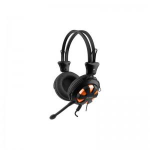 Casti A4tech On-ear ComfortFit cu microfon, portocaliu negru