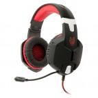 Casti gaming A+ Kago On-ear cu microfon, negru rosu