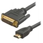 Cablu DVI -> HDMI