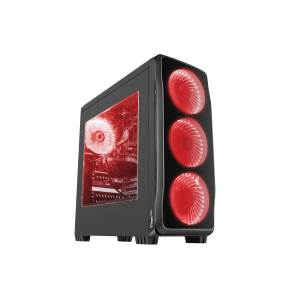 Carcasa Genesis Titan 750 Red, lateral transparent, USB 3.0