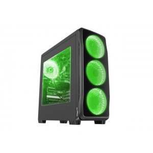 Carcasa Genesis Titan 750 Green, lateral transparent, USB 3.0