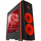 Carcasa Genesis Titan 700 Red, lateral transparent, USB 3.0