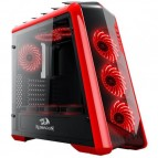 Carcasa Redragon Jetfire Black/Red, Middle Tower