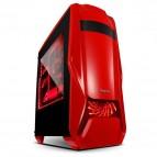 Carcasa SEGOTEP RED, lateral transparent, 3 ventilatoare, USB 3.0, design deosebit