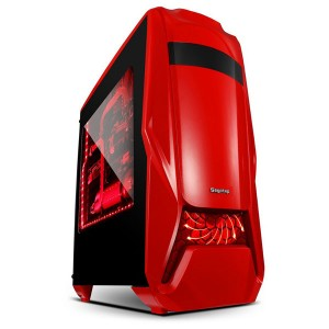 Carcasa SEGOTEP RED, lateral transparent, 3 ventilatoare, USB 3.0, design deosebit