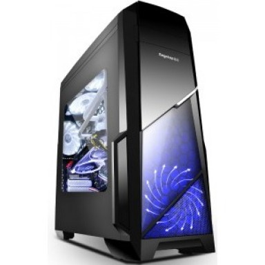 Carcasa SEGOTEP Sprint Black, lateral transparent, 2 ventilatoare, USB 3.0, design deosebit