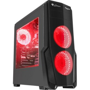 Carcasa Genesis Titan 800 Red, lateral transparent, USB 3.0