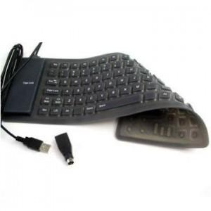 Tastatura USB/PS2 din Silicon mini