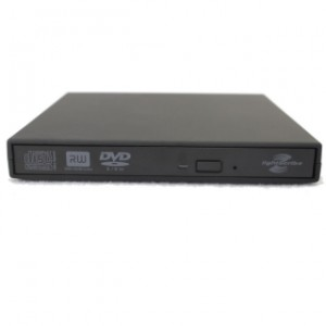 DVD Writer extern USB 2.0, model Slim, Negru