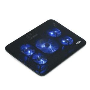 """Cooler laptop 15.6"""" USB 5 ventilatoare, negru"""
