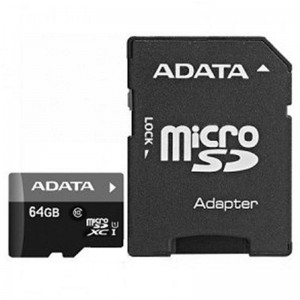 MICROSDHC 64GB CL10 ADATA W/A