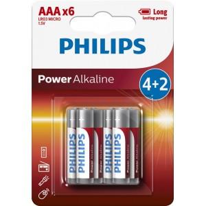 PH POWER ALKALINE AAA 4+2-BLISTER PROMO
