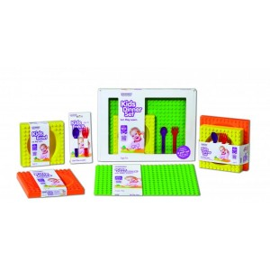 Kids Cutlery Set - purple (s) & red (f)