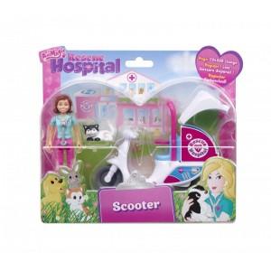 Rescue Hospital- Scuter cu figurina incl
