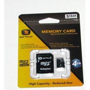 MICROSDHC 4GB SERIOUX CU ADAPTOR CL4