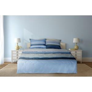 LENJERIE PAT DBL 4PCS 132TC-VITROL BLUE