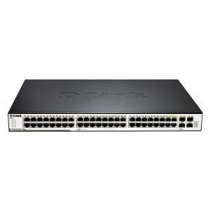 DLINK SW 48P-GB 4CMB L2 STACK RM