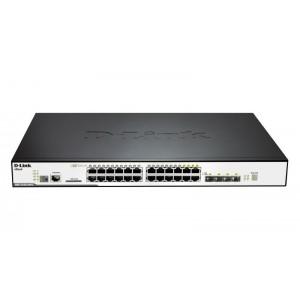 DLINK SW 20P-GB POE 4CMB L2 STACK RM
