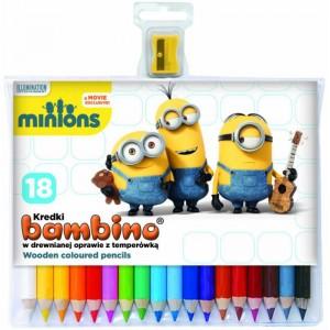 Set 18 creioane col.+asc., Minions