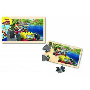 Mickey și piloții de curse- Puzzle din l