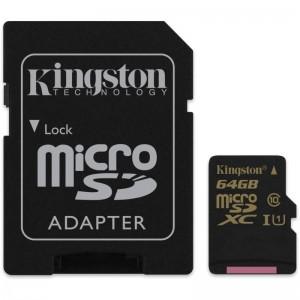 MICROSDXC 64GB CL10 UHS-I 90R/45W W/AD