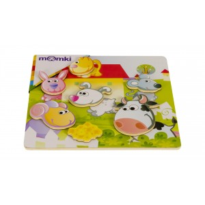PUZZLE 3D LEMN,MAGNETIC-ANIMALE DOMESTIC