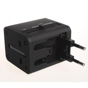 ADAPTOR AC UNIVERSAL 2 USB 2.1A 158 BLK