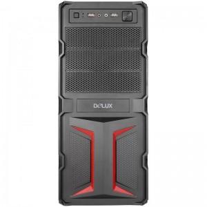 CASE DELUX 500W MV888 BLACK/RED