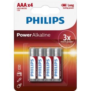 PH POWER ALKALINE AAA 4-BLISTER