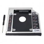 "Adaptor HDD 2.5"" S-ATA -> Unitate optica Laptop S-ATA 12.7mm"