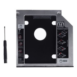 "Adaptor HDD 2.5"" S-ATA -> Unitate optica Laptop S-ATA 9.5mm"