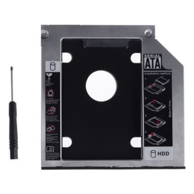 "Adaptor HDD 2.5"" S-ATA -> Unitate optica Laptop S-ATA 9.5mm"