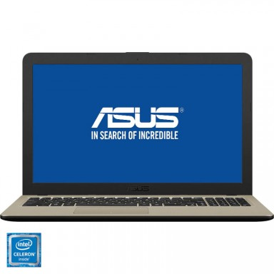Laptop ASUS X540MA-GO207 cu procesor Intel Celeron N4000, pana la 2.6 GHz, Gemini Lake, 4GB, 500GB, LED 15.6""