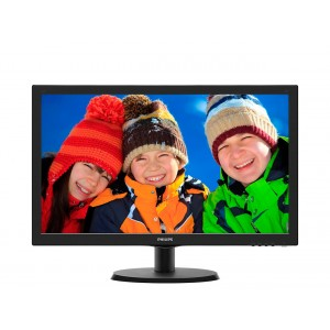 Monitor 22 LED PHILIPS, FULL HD, Negru Lucios