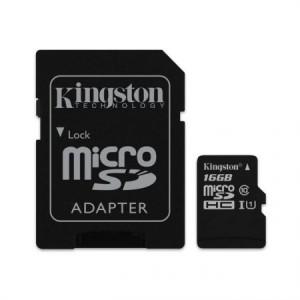 Card de memorie MicroSDHC, 16GB, Clasa 10 + Adaptor