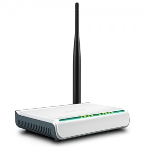 Router Wireless TENDA N, 2.4Ghz, 4 port LAN, WIFI, cu antena mare de 5dBi