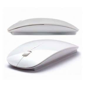Mouse WIRELESS Slim design Apple FARA FIR, ultra subtire, optic laser, conectare prin usb