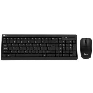 Kit Wireless tastatura + mouse optical A+ Office 1, USB, Negru