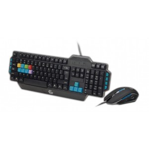Kit Gaming tastatura + mouse Gembird, Negru