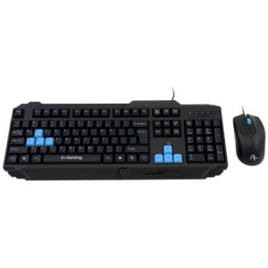 Kit gaming, tastatura + Mouse Kandaon, Negru