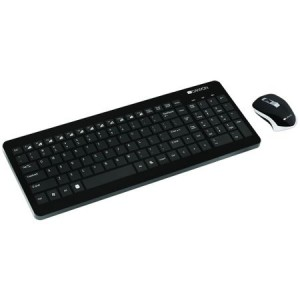 Kit Wireless tastatura + mouse optical Canyon, USB, Negru