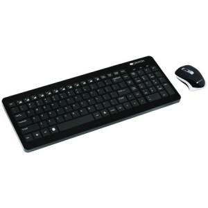 Kit Wireless tastatura + mouse optical Canyon, USB, Negru
