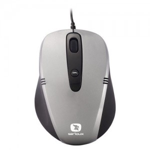Mouse USB SERIOUX CRUZER gri