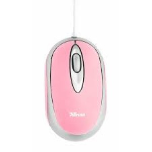 Mouse optical Trust, USB, Pink