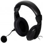 Casti Spacer On-ear cu microfon SPK-222, negru