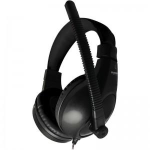 Casti Somic On-ear cu microfon, negru